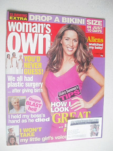 <!--2004-07-05-->Woman's Own magazine - 5 July 2004 - Claire Sweeney cover