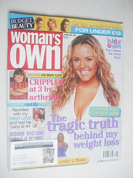 <!--2004-04-19-->Woman's Own magazine - 19 April 2004 - Charlie Brooks cove