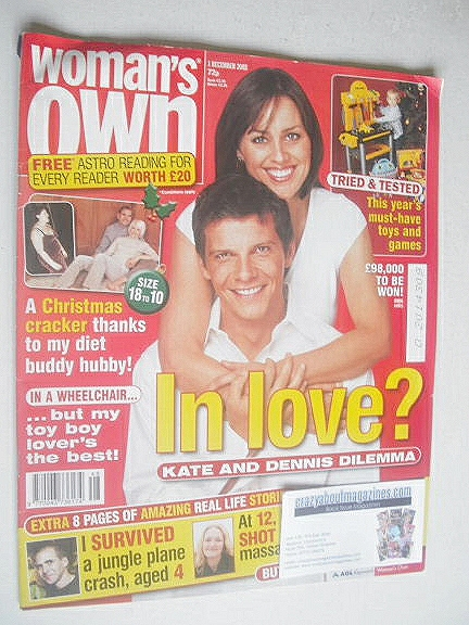 <!--2003-12-01-->Woman's Own magazine - 1 December 2003 - Nigel Harman and