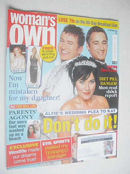 <!--2003-11-10-->Woman's Own magazine - 10 November 2003
