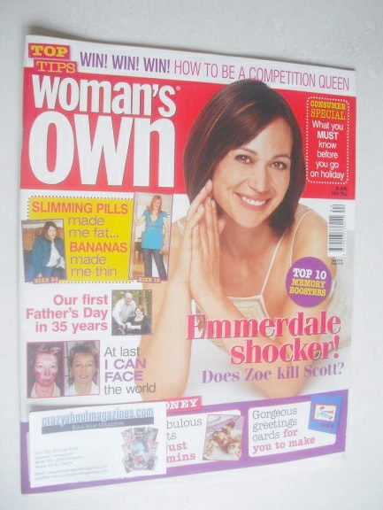 <!--2005-06-20-->Woman's Own magazine - 20 June 2005 - Leah Bracknell cover