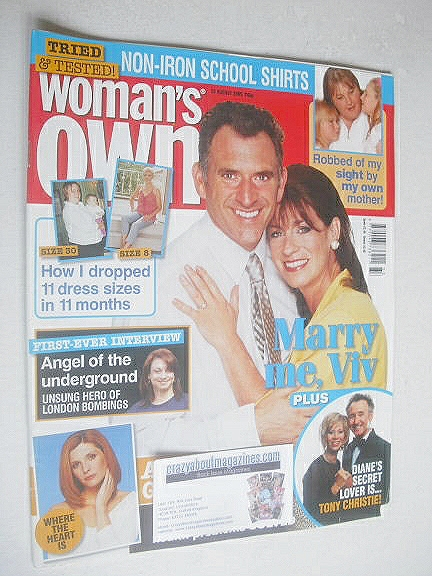 <!--2005-08-22-->Woman's Own magazine - 22 August 2005 - Tony Audenshaw and