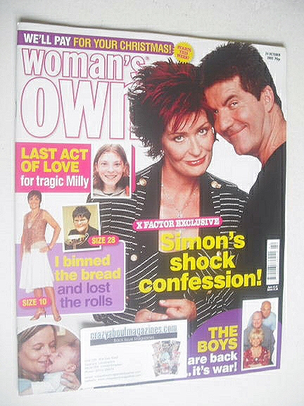 <!--2005-10-24-->Woman's Own magazine - 24 October 2005 - Simon Cowell and