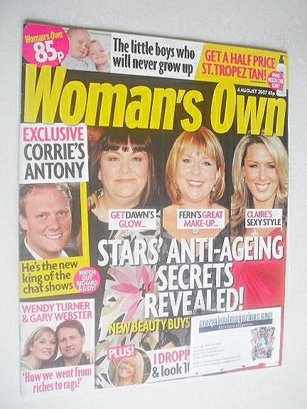 <!--2007-08-06-->Woman's Own magazine - 6 August 2007