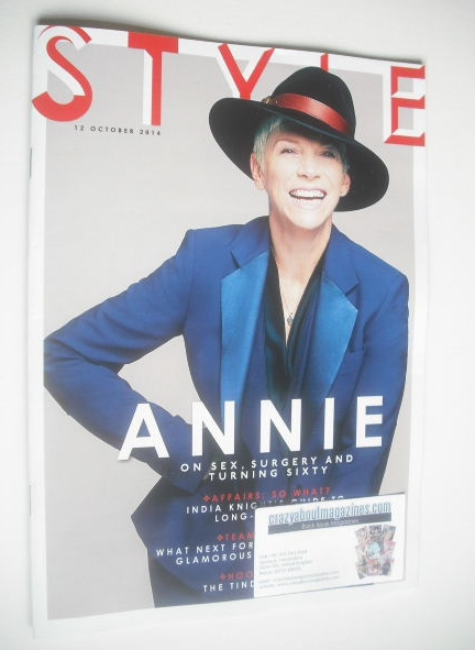 <!--2014-10-12-->Style magazine - Annie Lennox cover (12 October 2014)