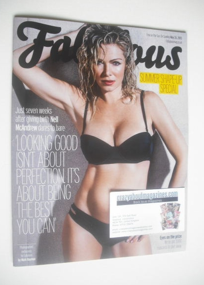 <!--2013-05-26-->Fabulous magazine - Nell McAndrew cover (26 May 2013)