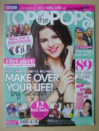 <!--2012-02-22-->Top Of The Pops magazine - Selena Gomez cover (22 February