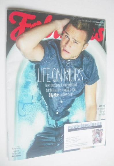 <!--2014-10-19-->Fabulous magazine - Olly Murs cover (19 October 2014)