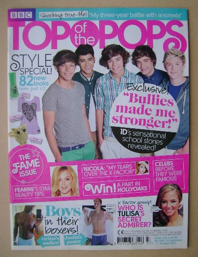 <!--2011-09-14-->Top Of The Pops magazine - One Direction cover (14 Septemb
