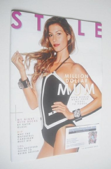 <!--2014-10-19-->Style magazine - Gisele Bundchen cover (19 October 2014)
