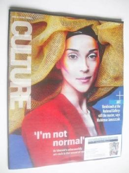 Culture magazine - Annie Clark cover (19 October 2014)