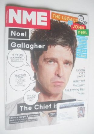 <!--2014-10-25-->NME magazine - Noel Gallagher cover (25 October 2014)