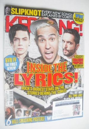 <!--2014-10-18-->Kerrang magazine - Inside The Lyrics cover (18 October 201