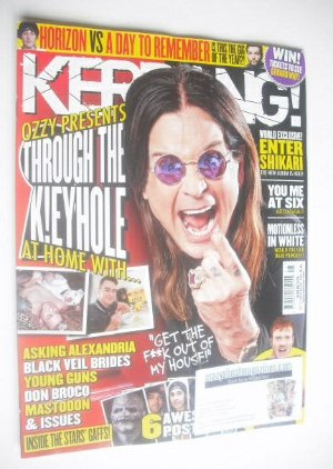 <!--2014-10-11-->Kerrang magazine - Ozzy Osbourne cover (11 October 2014 -