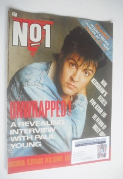 No 1 Magazine - Paul Young cover (4 October 1986)