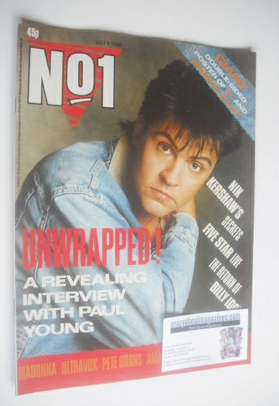 <!--1986-10-04-->No 1 Magazine - Paul Young cover (4 October 1986)