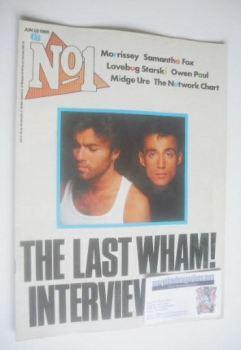 No 1 Magazine - George Michael and Andrew Ridgeley cover (28 June 1986)