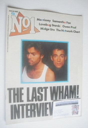 <!--1986-06-28-->No 1 Magazine - George Michael and Andrew Ridgeley cover (
