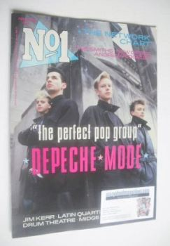 No 1 Magazine - Depeche Mode cover (22 February 1986)