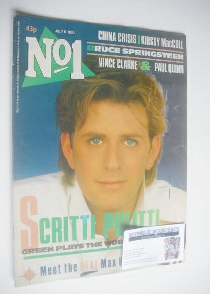 <!--1985-07-06-->No 1 Magazine - Green Gartside cover (6 July 1985)