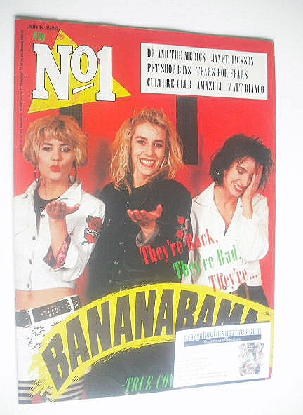 <!--1986-06-14-->No 1 Magazine - Bananarama cover (14 June 1986)