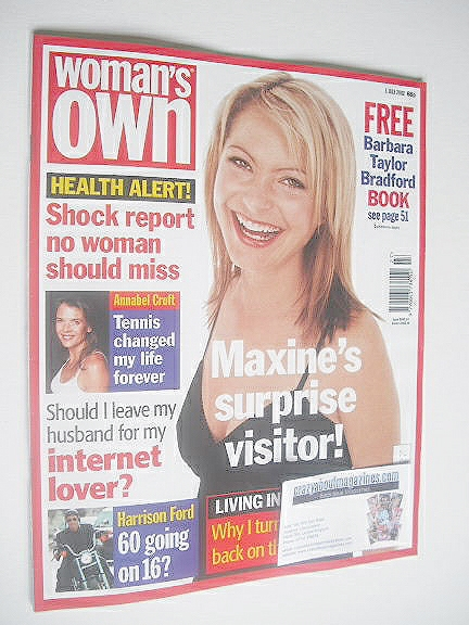 <!--2002-07-01-->Woman's Own magazine - 1 July 2002 - Tracy Shaw cover