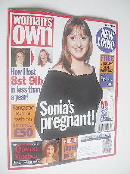 <!--2002-04-22-->Woman's Own magazine - 22 April 2002 - Natalie Cassidy cov