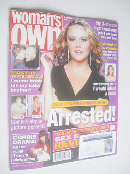 <!--2004-03-15-->Woman's Own magazine - 15 March 2004 - Charlie Brooks cove