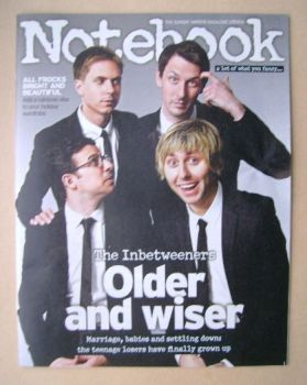 Notebook magazine - The Inbetweeners cover (27 July 2014)