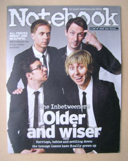 <!--2014-07-27-->Notebook magazine - The Inbetweeners cover (27 July 2014)