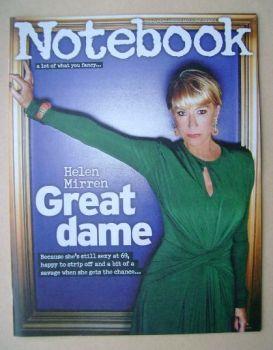 Notebook magazine - Helen Mirren cover (17 August 2014)