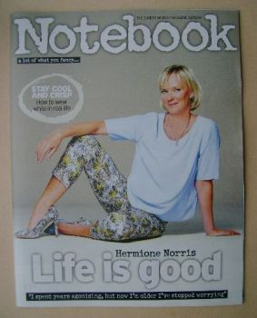 Notebook magazine - Hermione Norris cover (3 August 2014)