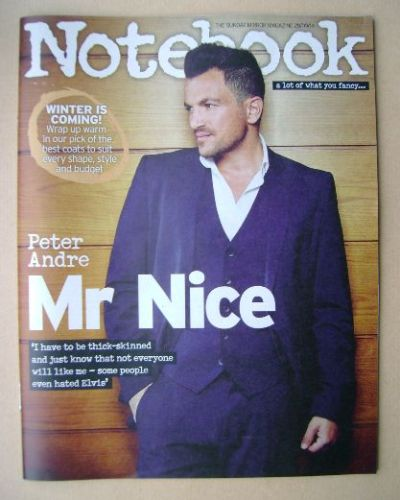 <!--2014-09-28-->Notebook magazine - Peter Andre cover (28 September 2014)