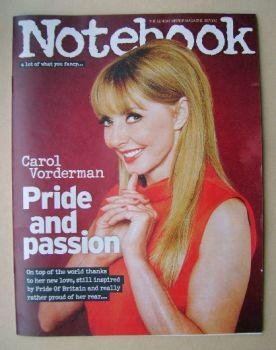 Notebook magazine - Carol Vorderman cover (5 October 2014)