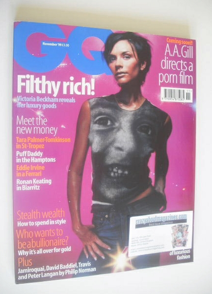 <!--1999-11-->British GQ magazine - November 1999 - Victoria Beckham cover