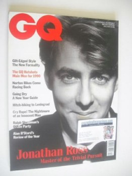 British GQ magazine - December 1989/January 1990 - Jonathan Ross cover