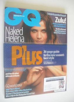 British GQ magazine - September 1999 - Helena Christensen cover