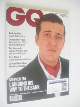 British GQ magazine - April 1990 - Stephen Fry cover