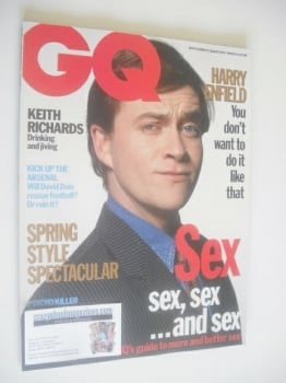 British GQ magazine - March 1993 - Harry Enfield cover