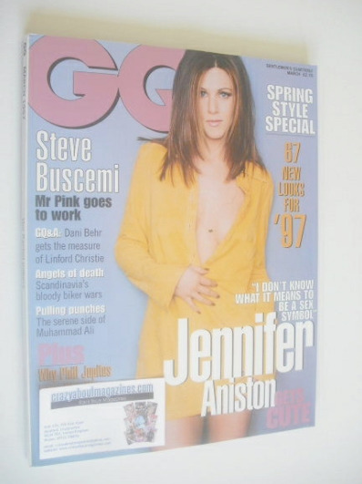 <!--1997-03-->British GQ magazine - March 1997 - Jennifer Aniston cover