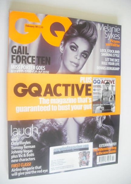<!--1999-02-->British GQ magazine - February 1999 - Gail Porter cover