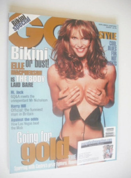 British GQ magazine - August 1996 - Elle MacPherson cover