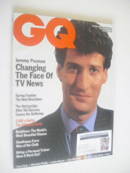 British GQ magazine - March 1990 - Jeremy Paxman cover