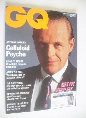 <!--1991-06-->British GQ magazine - June 1991 - Anthony Hopkins cover