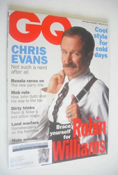 <!--1994-02-->British GQ magazine - February 1994 - Robin Williams cover