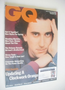 British GQ magazine - February 1990 - Phil Daniels cover