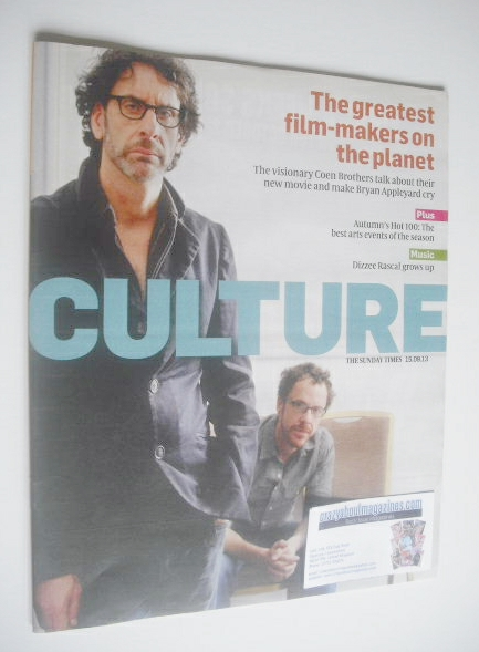 <!--2013-09-15-->Culture magazine - Joel Coen and Ethan Coen cover (15 Sept
