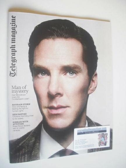 <!--2014-11-01-->Telegraph magazine - Benedict Cumberbatch cover (1 Novembe