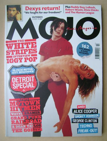 <!--2003-10-->MOJO magazine - Jack White and Iggy Pop cover (October 2003 -