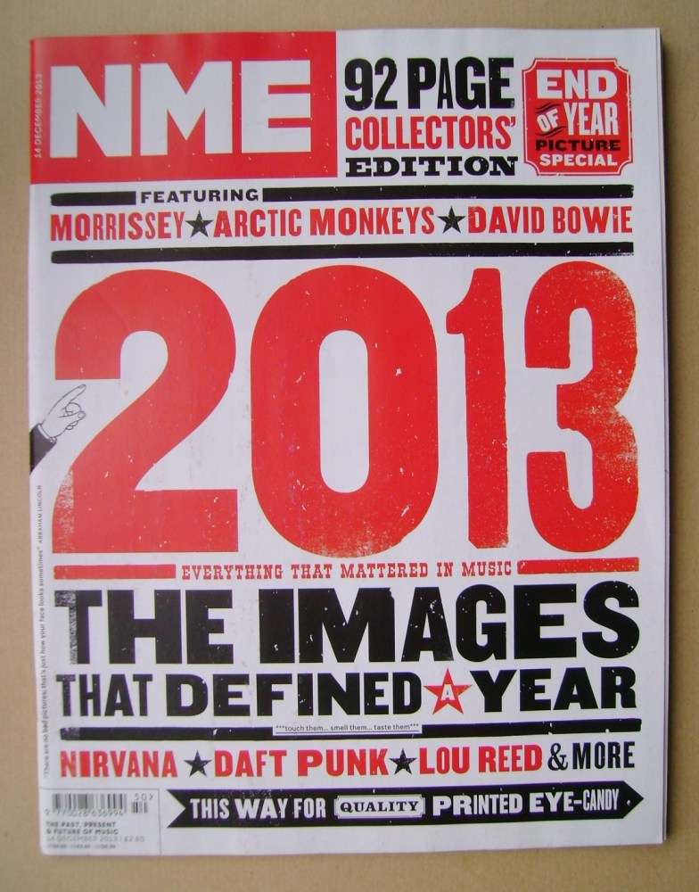 <!--2013-12-14-->NME magazine - 2013 cover (14 December 2013)
